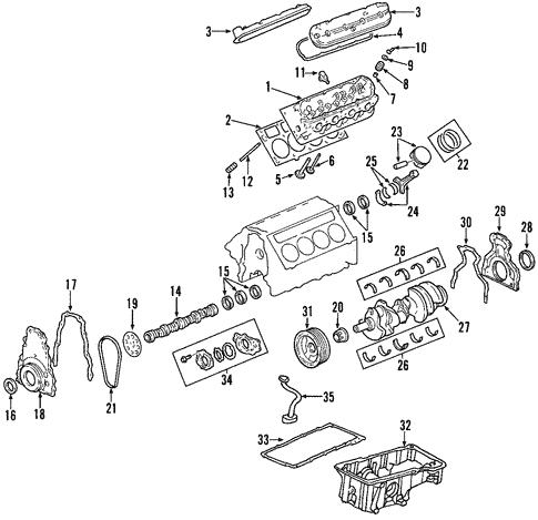 [SCHEMATICS_48IU]  Mounts for 2007 Chevrolet Trailblazer   GMPartOnline   2007 Chevy Trailblazer Engine Diagram      GM Parts Online
