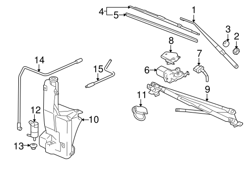Gm Wiper Linkage Module 15812088