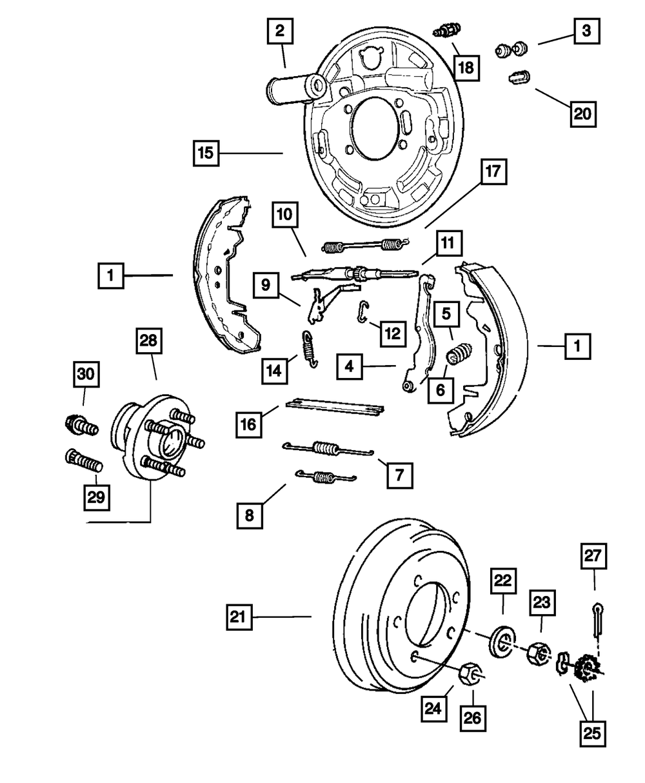 Crown Automotive 4762121 Brake Adjuster Plug
