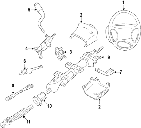steering column for 2015 chevrolet silverado 1500