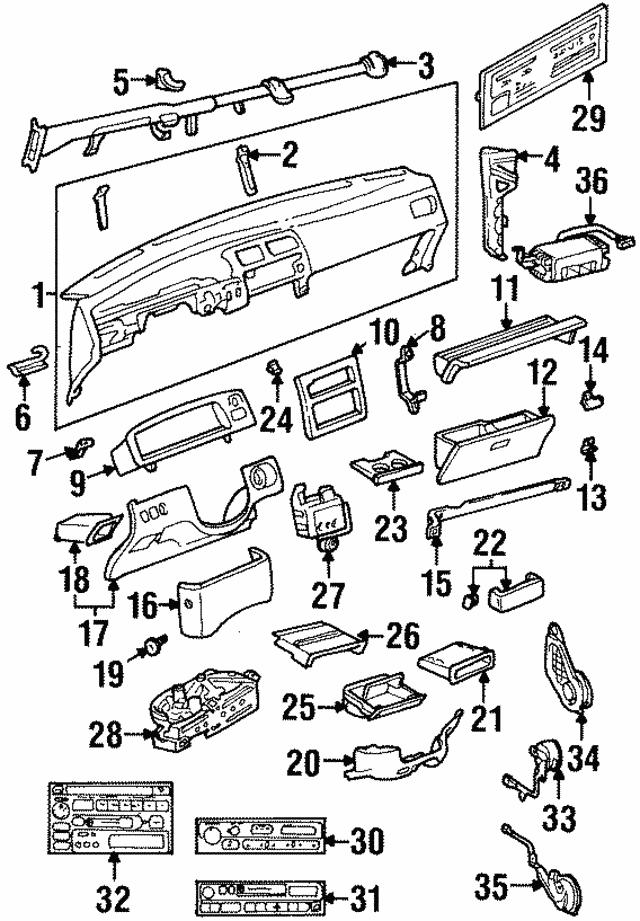 19931998 Toyota T100 Instrument Panel Side Bracket 6118234010. Instrument Panel Side Bracket Toyota 6118234010. Toyota. Instrument Panel Diagram 1996 Toyota T100 At Scoala.co