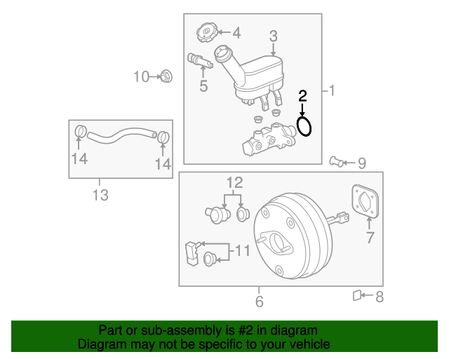 master cylinder seal gm 15787976 gmpartsnow