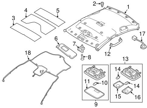 Interior Trim Roof For 2013 Hyundai Accent Hyundai Parts Accessories