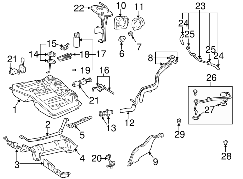 fuel system/fuel system components for 1996 toyota rav4 #1