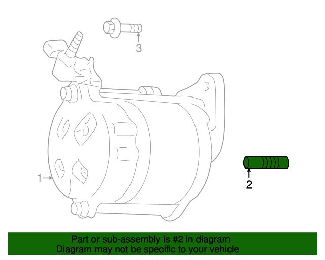 Genuine Mopar Starter Stud 6035606