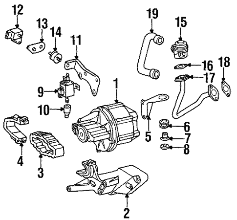Emission Components for 1998 Mercedes-Benz SL 500 #0