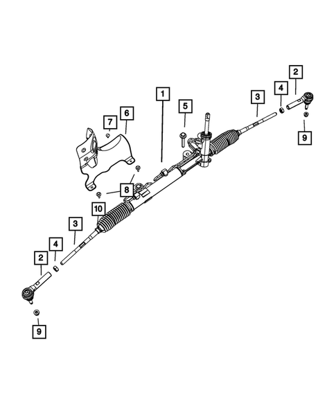 2010 For Dodge Journey Front Outer Steering Tie Rod End Engine: 2.4L, 3.5L