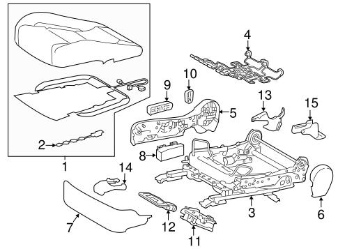 Passenger Seat Components For 2017 Lexus Rc F