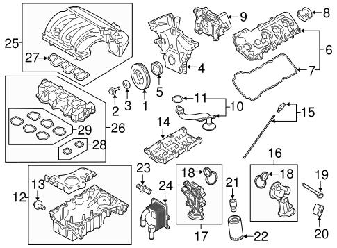 engine parts for 2014 ford taurus tascaparts. Black Bedroom Furniture Sets. Home Design Ideas