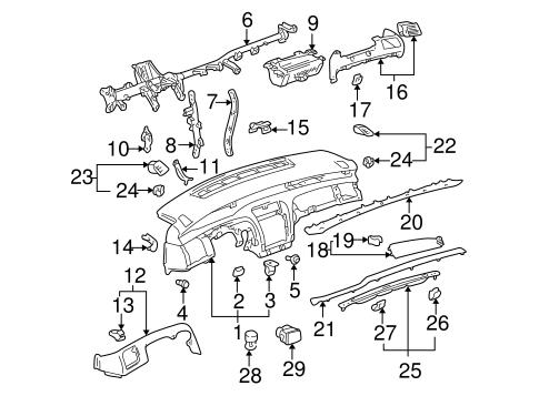 Genuine Oem Instrument Panel Parts For 2003 Toyota Avalon Xls