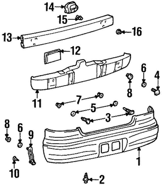 1998 2002 Chevrolet Prizm Retaining Bracket 94857175
