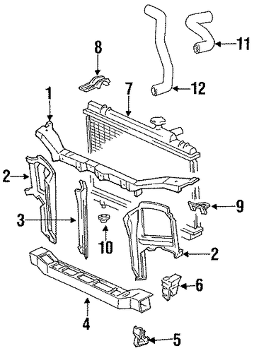 Radiator Mount Bracket