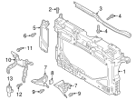 Radiator Support - Mazda (D10E-53-110A)