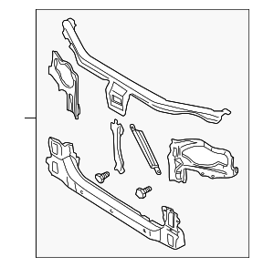 Radiator Support - Nissan (62500-5Y501)