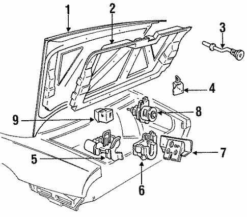 Trunk For 1996 Buick Park Avenue