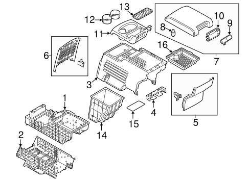 Rear Console For 2014 Ford Explorer Quirk Parts