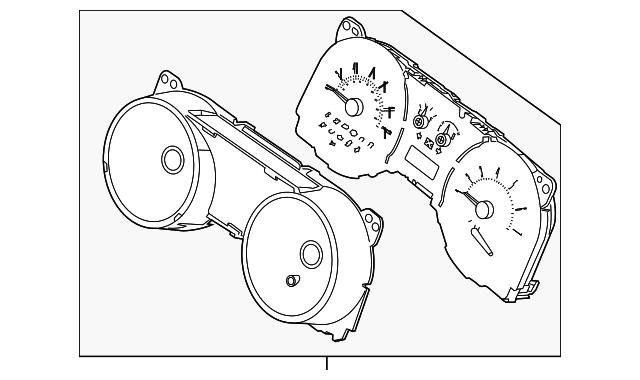 2014 ford mustang instrument cluster er3z
