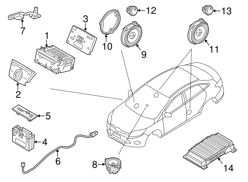 Oem 2013 Ford Focus Sound System Parts