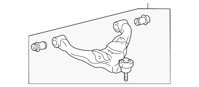 genuine toyota lower control arm 48068
