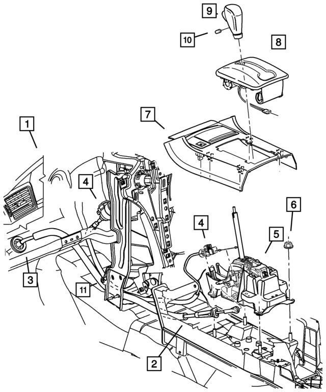 Mopar Cable Gearshift Control 5310002ac