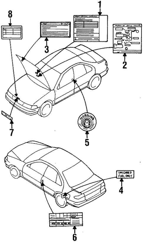 Labels For 1997 Nissan 200sx