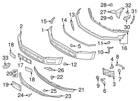 F A C D Ba C Bc Eb F A on F 150 Body Parts Diagram