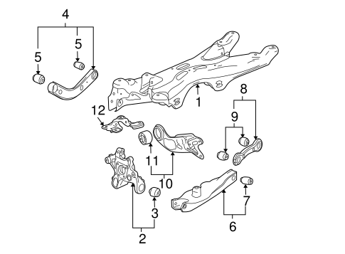 oem 2008 pontiac g6 rear suspension parts gmpartsonline net rh gmpartsonline net pontiac vibe suspension diagram 2005 pontiac g6 suspension diagram