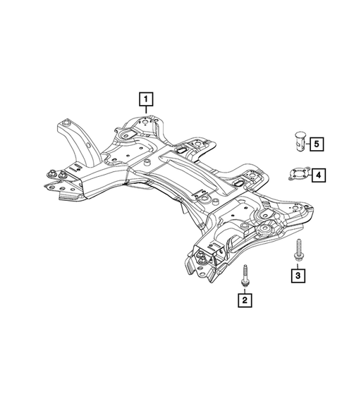 Front Suspension, Strut and Cradle for 2015 Jeep Renegade #2