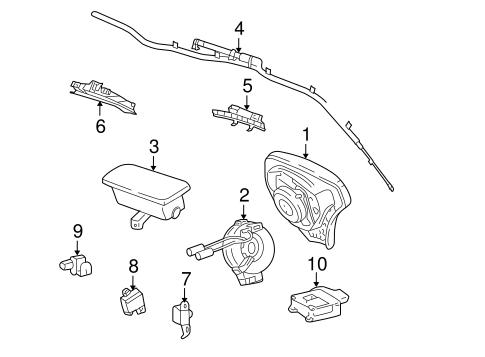 Oem 2006 Pontiac Vibe Air Bag Components Parts