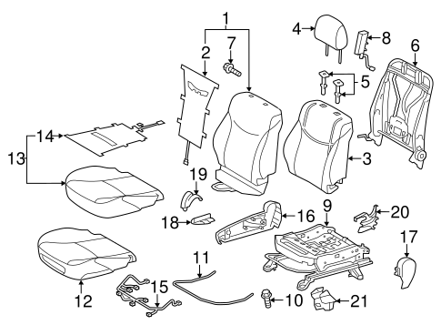 BODY/PASSENGER SEAT COMPONENTS for 2015 Toyota Prius Plug-In #1