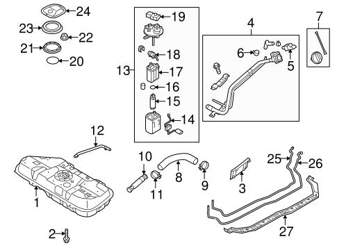 fuel system components for 2011 kia forte genuine kia parts. Black Bedroom Furniture Sets. Home Design Ideas