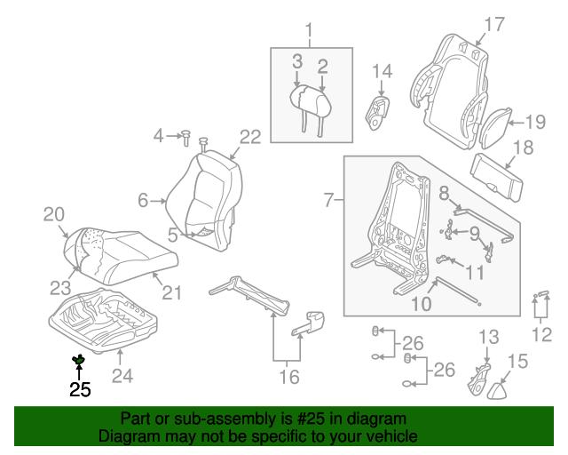 Cushion Frame Retainer - Audi (8N0-881-956)   oemaudiparts