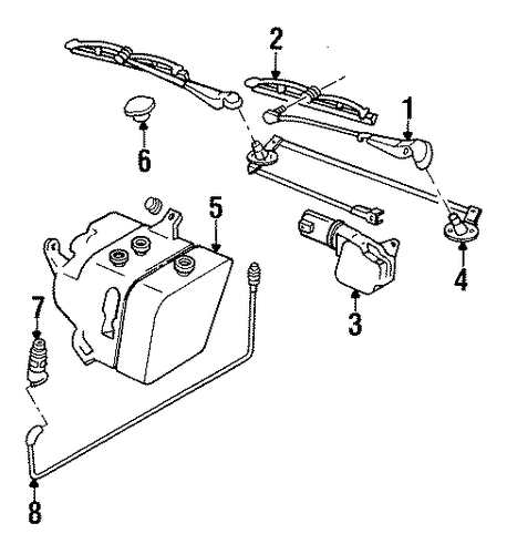 Oem Wiper Amp Washer Components For 1995 Buick Lesabre