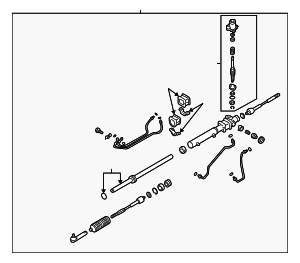 Power Steering Gear Box Assembly / VIN Required - Subaru (34110AE20A)