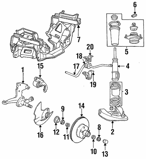 oem 1993 ford mustang suspension components parts