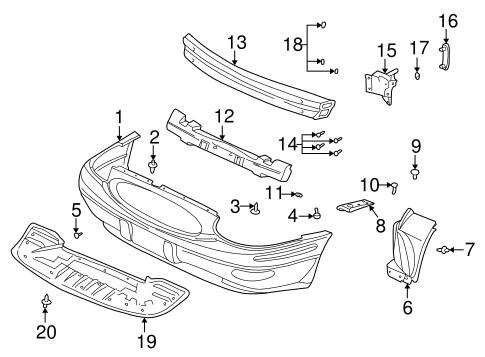 bumper & components - front for 2001 buick lesabre #0