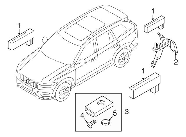 2018 Volvo Xc60 Antenna Bracket 31419752