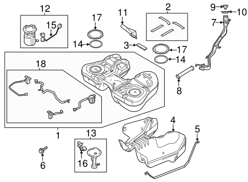 Fuel System/Fuel System Components for 2013 Ford Flex #1
