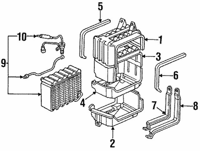 1990 1993 Honda Case Evaporator Upper 80201 Sm4 A01
