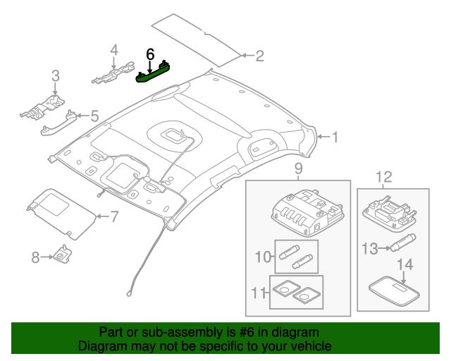 Genuine Hyundai 85360-2L700 Assist Handle Bracket Assembly Rear
