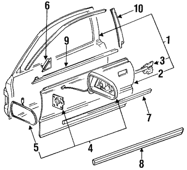 Seal, L Front Door Sill (Lower) - Acura (72475-SP1-003)