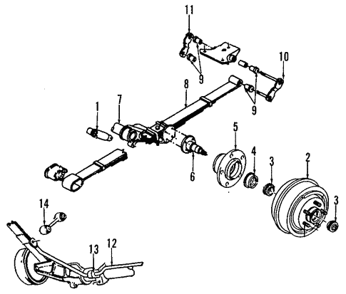 Rear Suspension for 1993 Chrysler Town & Country #0