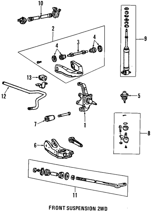FRONT SUSPENSION/SUSPENSION COMPONENTS for 1996 Toyota T100 #1