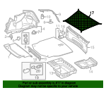 Luggage Net, Floor Of Load Compartment - Mercedes-Benz (205-860-89-00)