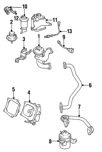 EMISSION SYSTEM/EGR SYSTEM for 1996 Toyota Avalon #1