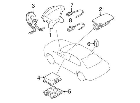 Air Bag Components for 2006 Mitsubishi Lancer OZ Rally ... Airbag Wiring Diagram Lancer on