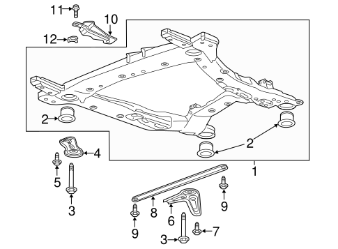 Oem 2017 Cadillac Xt5 Suspension Mounting Parts