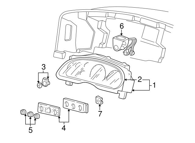 Genuine Ford 5C3Z-25047A04-HAA Bumper Bezel