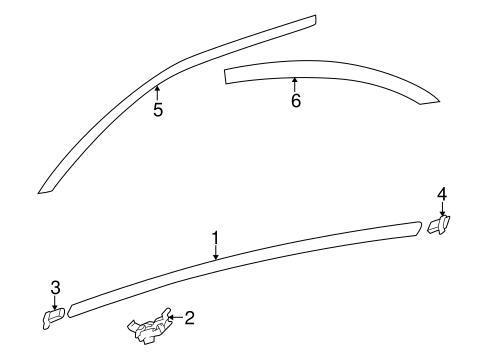bodyexterior trim roof for 2002 kia optima 1