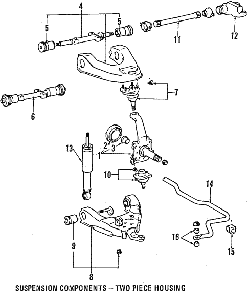 Front Suspension/Upper Control Arm for 1996 Toyota Land Cruiser #1